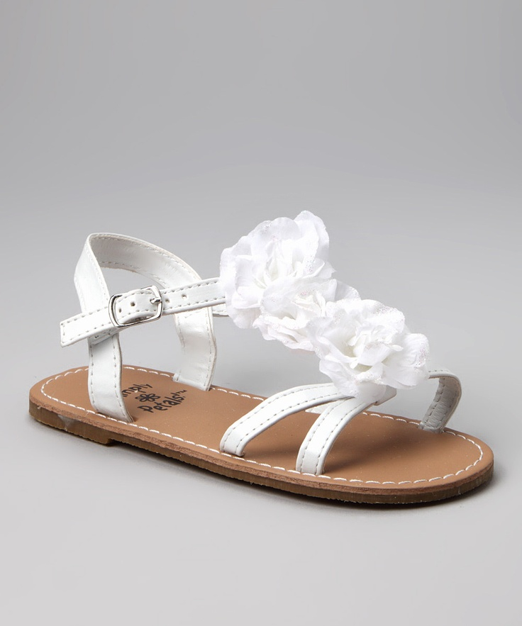 toddler sandal embellished with flowers   By Simply Petals