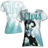 Elvis Presley King of Rock 1950's Icon Cursive Guitar Stars Juniors T-Shirt   Elvis Presley King of Rock 1950's Icon Cursive Guitar Stars Juniors T-Shirt Officially Licensed Brand New Item Color: White Material: 55% Cotton 45% Polyester  This t-shirt is hand-made and unique, using...