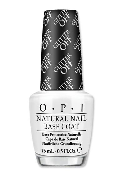 Shop Our Favorite Glitter Nail Polishes - OPI Glitter Off Base Coat from #InStyle