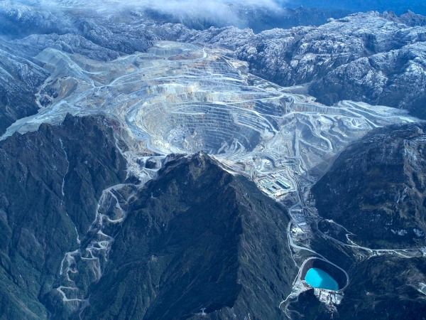 Grasberg mine for copper & gold