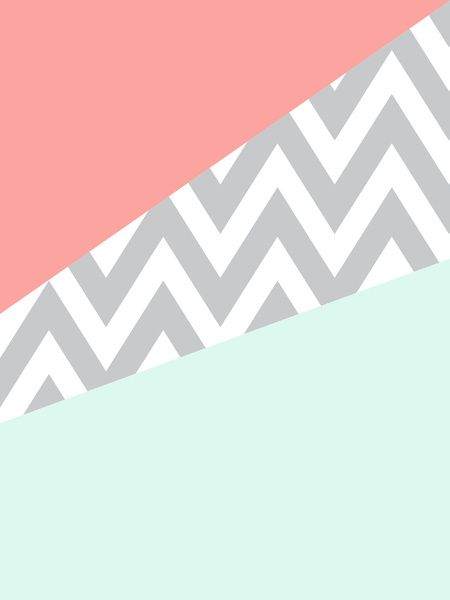 3359369_3494534_lz.jpg (450×600) mint chevron coral case wallpaper