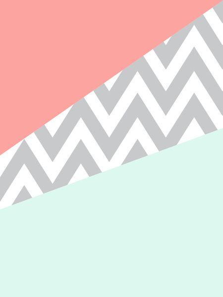 3359369_3494534_lz.jpg (450×600) mint chevron coral case wallpaper