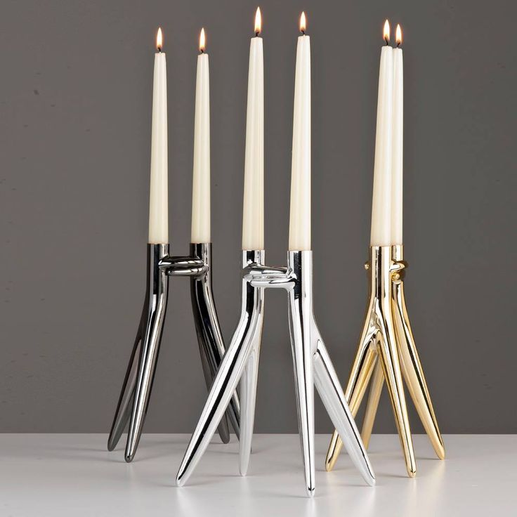 Abbracciaio Candle Holder, designed by Philippe Starck for Kartell.  Get The Originals at www.2ndfloor.gr