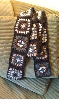 ChemKnits: Crochet Granny Square Scarf - My First Crochet Project!