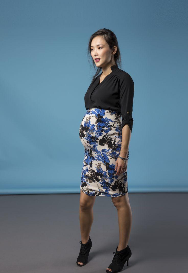 Cindy Print Maternity Skirt