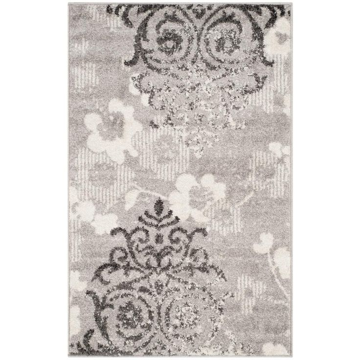 Adirondack Silver/Ivory 2 ft. 6 in. x 4 ft. Area Rug
