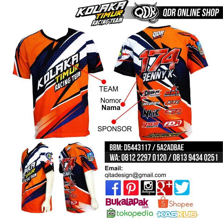 Jersey Drag Race (Kolaka Timur) Bahan: Dry-fit printing: sublimasi untuk pemesanan: BBM D5443117 / 5A2ADBAE (Qdr online shop) WA/LINE 081222970120 / 08129434025