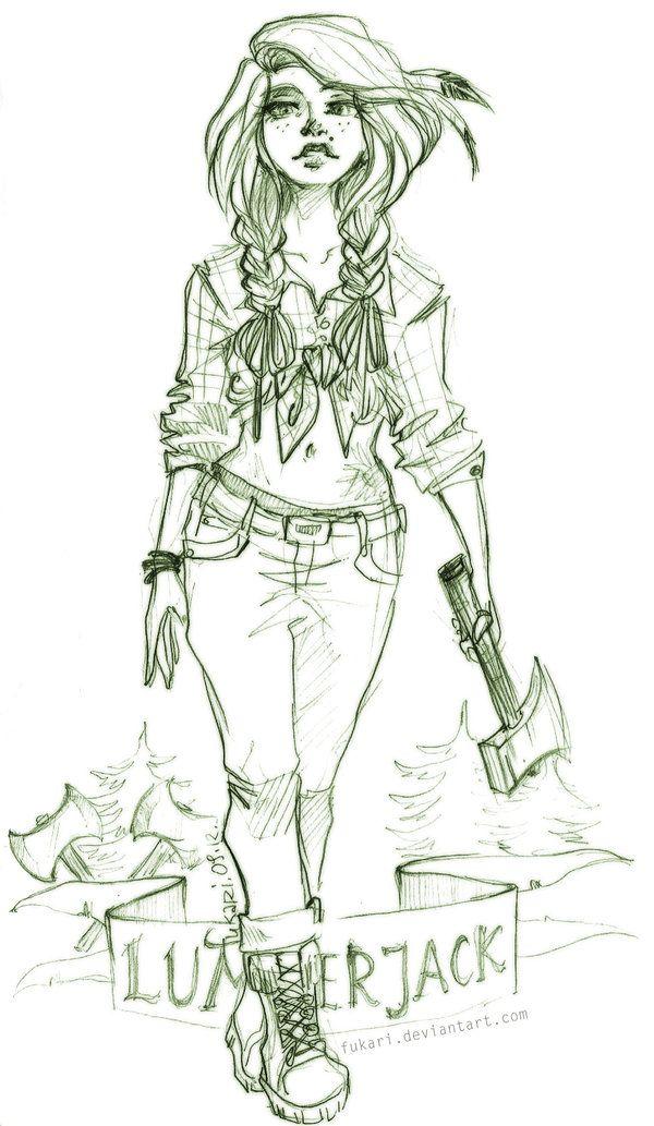 Lumberjack Girl by Fukari.deviantart.com on @deviantART