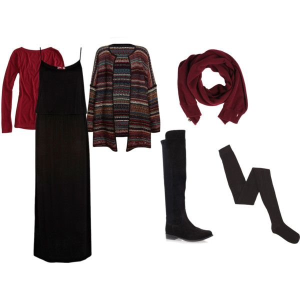 Fall/Winter Maxi Dress Idea