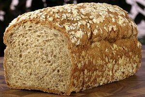 12 Grain Bread from CDKitchen.com - water, butter, honey, salt, 12 grain flour, whole wheat flour, yeast  [bread machine recipe]