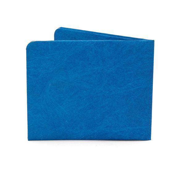 Paper-Thin Wallet Unisex for Men & Women - Solid Blue Design - Made in Tyvek - Eco-friendly and 100% Recyclable