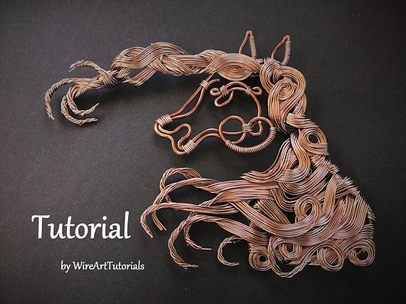 TUTORIAL PDF horse decoration/pendant pattern book,wire wrap weave jewelry,copper,project,wrapping weaving,wrapped weaved,animal design