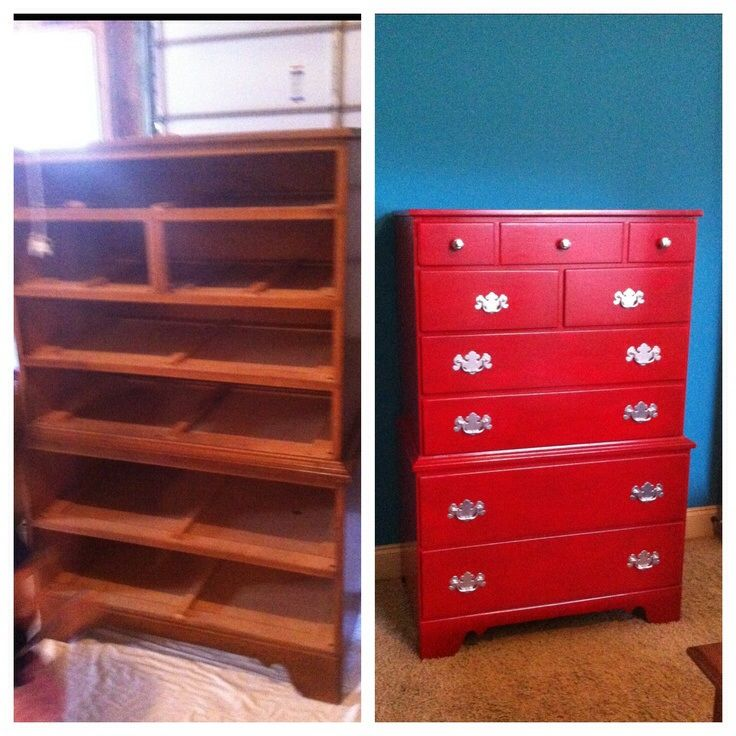 Bought A Dresser For 20 Repainted It Red And Voila I Love It It 39 S Going In My Son 39 S