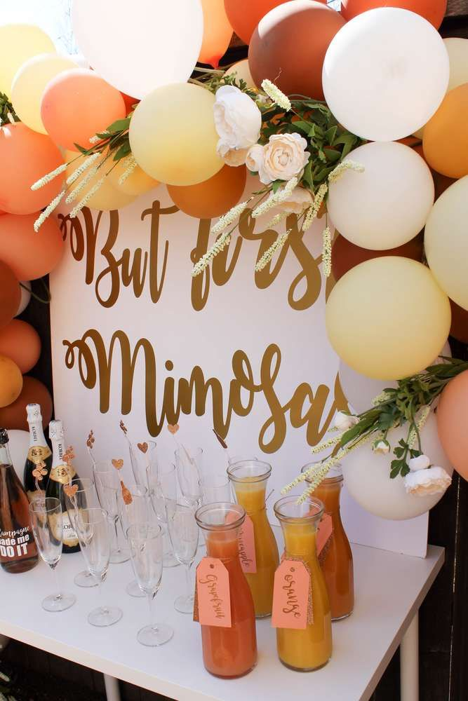 But first, mimosas Bridal/Wedding Shower Party Ideas   Photo 1 of 12