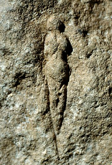 site: Abri Pataud, Les Eyzies, Dordogne, France dating: Palaeolithic, about 21,000 YA material: relief in rock