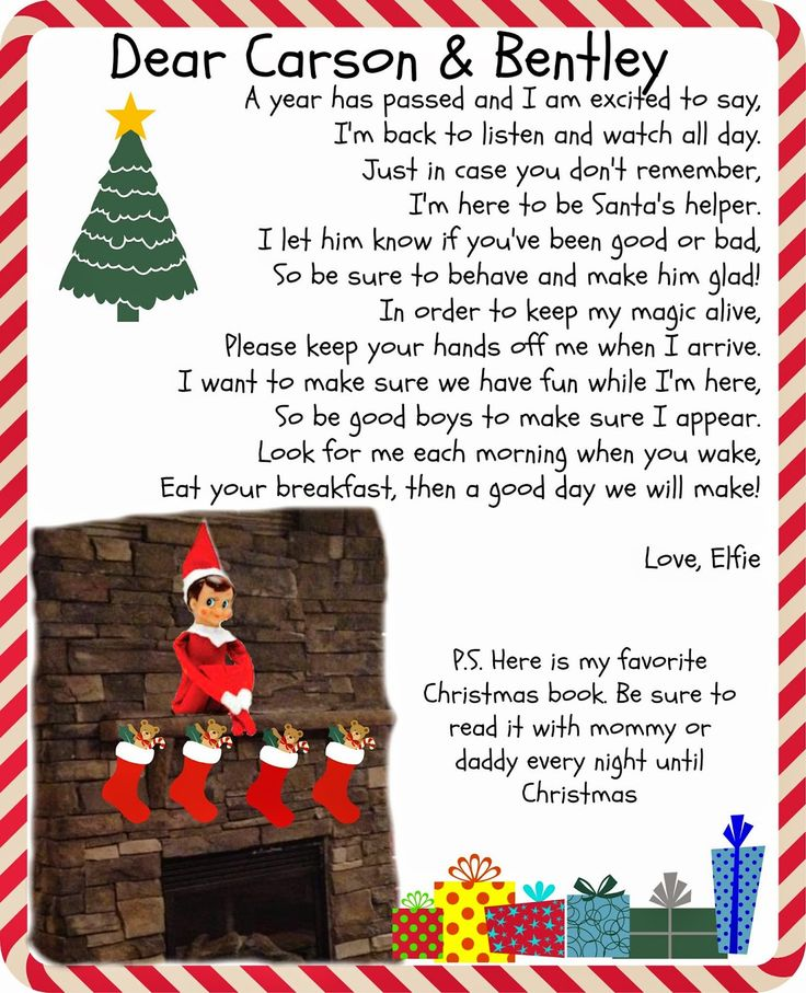 "elf on the shelf ""elfie"" is ready to come back!!!! www.melissavbeck.com"