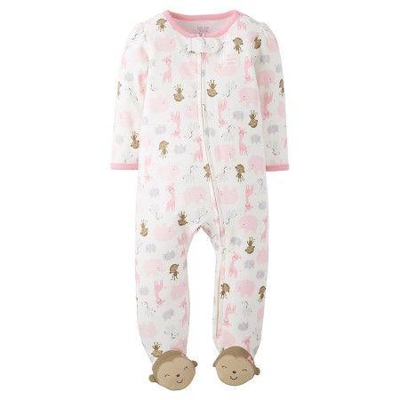 Baby Girls Cotton Sleep N Play Animals Monkey Feet