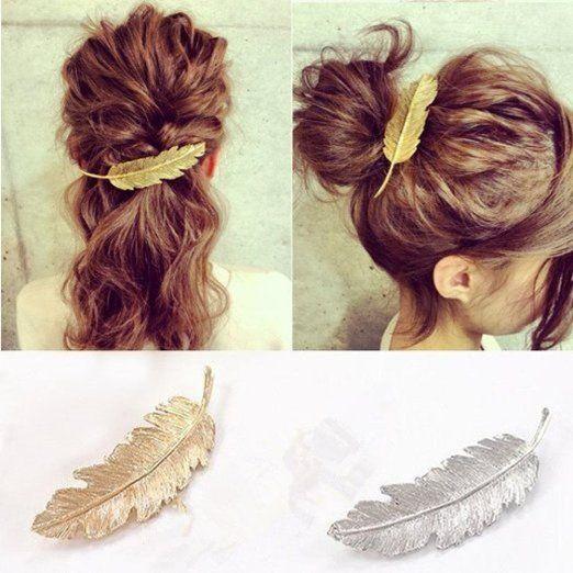 Cuhair(tm) 2pcs Leaf Design Punk Women Girl Hair Clip Pin Claw Barrettes Accessories