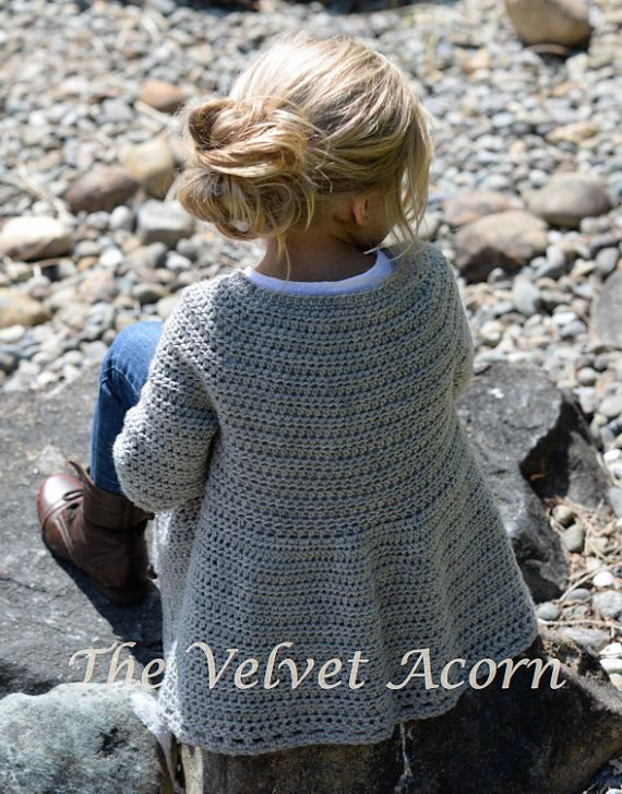 CROCHET PATTERN-The Cairbre Cardigan 2/3 4/5 6/7 by Thevelvetacorn