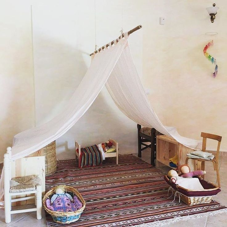 Beautiful Waldorf play space - I'd love to create something like this. Also see 'Tented play space' Pin