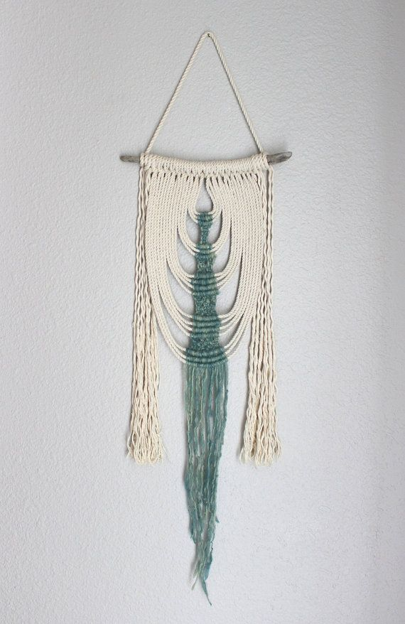 Makramee-Wand-hängen Energiefluss no.35 von HIMO-Kunst von HIMOART