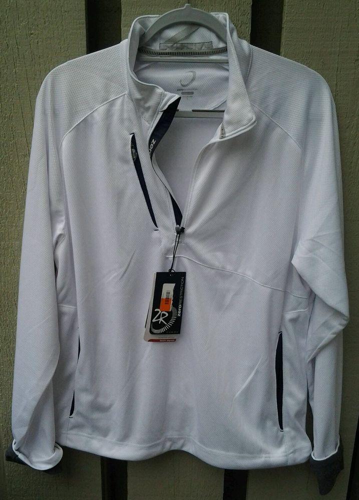 ZERO RESTRICTION Golf Jacket Pullover White Sz Large Tech Layers #ZeroRestriction #ShirtsTops