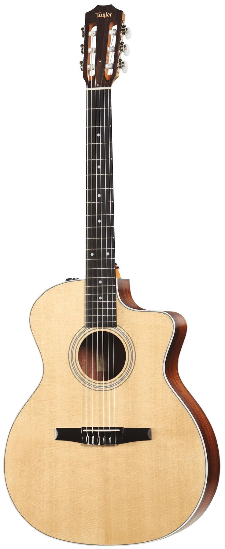 Taylor 214ce-N Acoustic-Electric Nylon String Guitar. Street price: $999. For a detailed guide to nylon string guitars see https://www.gearank.com/guides/nylon-string-guitar
