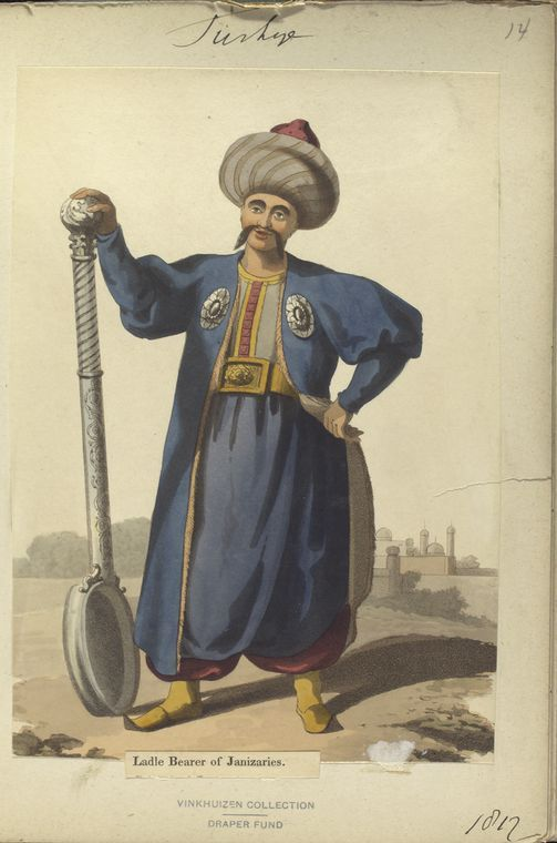 Ladle bearer of Janisaries. The Vinkhuijzen collection of military uniforms / Turkey, 1812. See McLean's Turkish Army of 1810-1815.