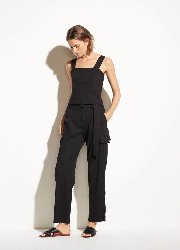a015221fed161a Cropped Wide Strap Linen Shell in 2019 | Stitch Fix inspiration ...
