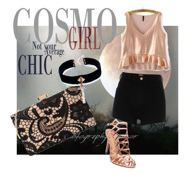 """""""rosing around with the girls"""" by tarynbassadien on Polyvore featuring Madden Girl, River Island, Love Moschino and VSA"""
