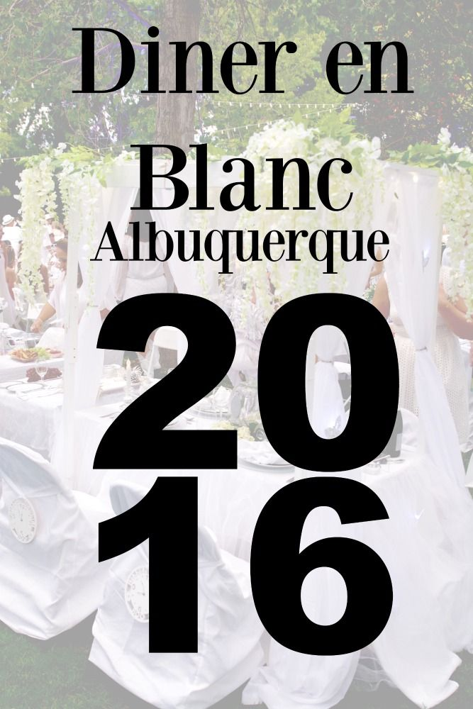 Diner en Blanc is a night of elegance and magic. I attended my third Diner en Blanc in Albuquerque on September 2016. It was fantastic!