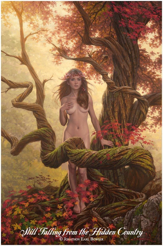 ...an oil painting of Eve, who became the first Human by listening to ancient stories of hunger...