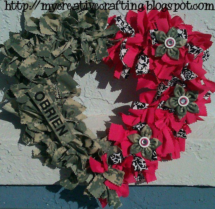 My Creative Crafting: DIY Army wreath for Valentine's Day...luv