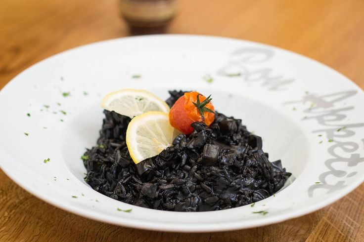 Black risotto