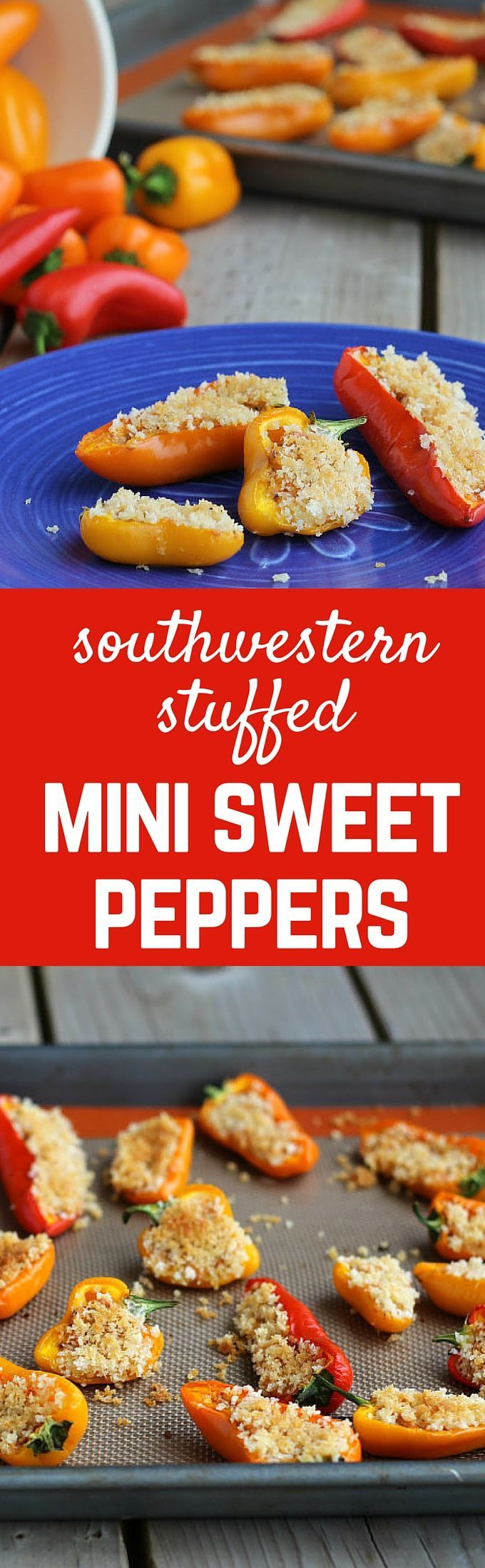 These stuffed mini sweet peppers have a perfect touch of the southwest. Spicy, creamy, crunchy and so tasty! What more could you want? Get the recipe on http://RachelCooks.com!