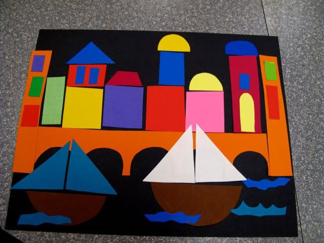 Building Venice - great visual and detailed lesson plan including pre cut shapes if doing with very young set.: