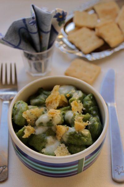 gnocchi verdi ai 4 formaggi