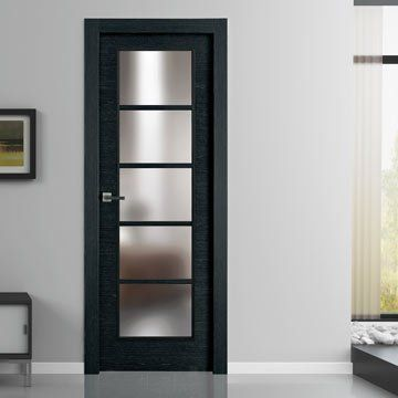 Designed to enhance your home. Sanrafael Lisa Glazed Fire Door - L62V5 Reconstituted Ashen Prefinished. #sanrafaeldoors