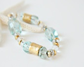 blue clear crystal bracelet,handmade bracelet,fashion jewelry,