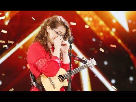 Mandy Harvey: Deaf Singer Earns Simon's Golden Buzzer With Original Song - America's Got Talent 2017 - YouTube