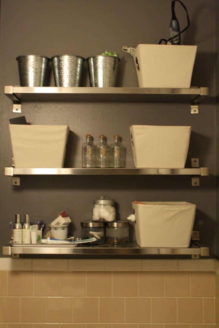 diy shelf ideas for bathroom%0A DIY Bathroom Organization   Don u    t underestimate the help that a few DIY  shelves can