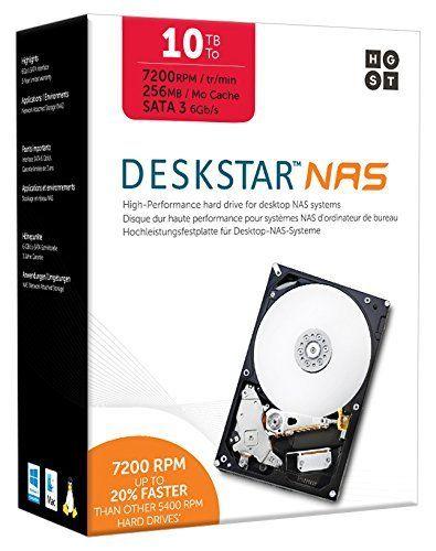 """HGST 0S04037 10TB Deskstar - 7200 RPM 256MB Cache SATA III 3.5"""""""" Internal NAS Drive Kit - 3.5 Bare/OEM Drive"""