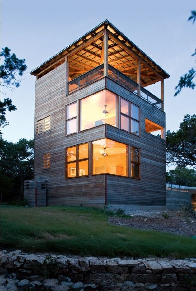 tower house by andersson wise architects: Andersson Wise, Towers House, Tower House, Modern Architecture, Container House, Wise Architects, Design Home, Austin Tx, Corner Window