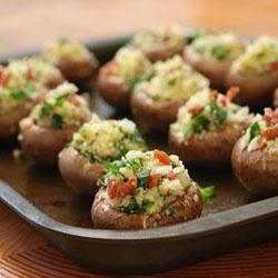 Gouda Stuffed Mushrooms