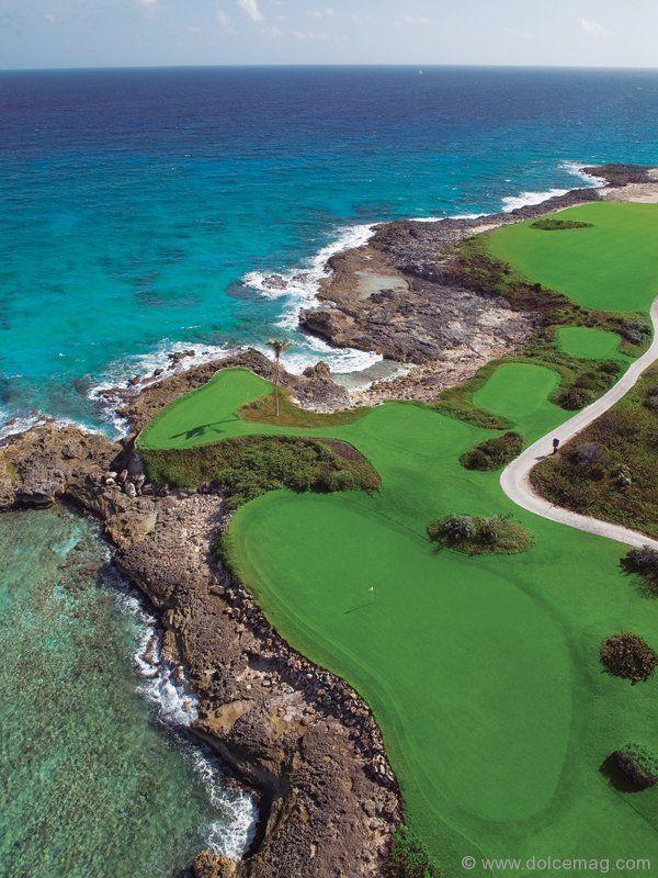 Sandals Emerald Bay's strikingly scenic championship Greg Norman-designed golf course.