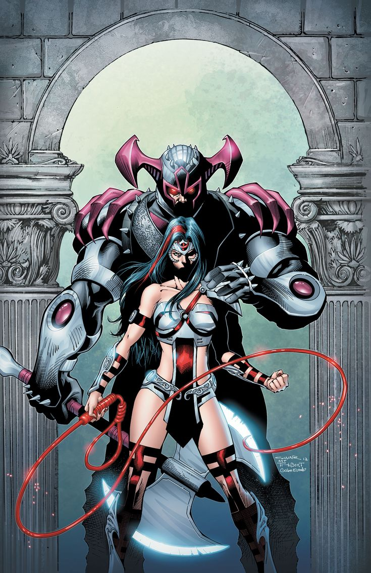 Earth 2 - Lazy Sunday. Steppenwolf and Fury, estranged daughter of Earth-2 Wonder Woman.