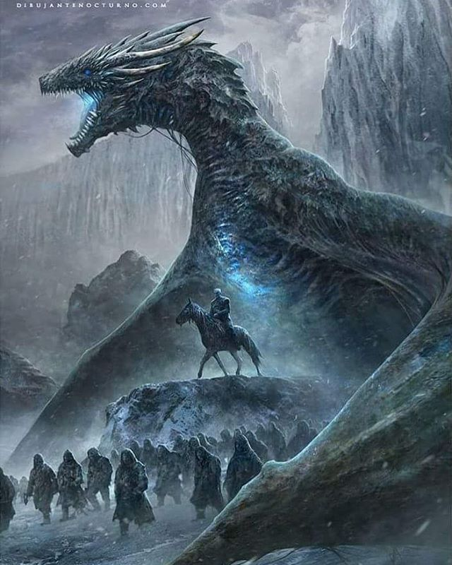Viserion and the Night King Artist @dibujantenocturno ...