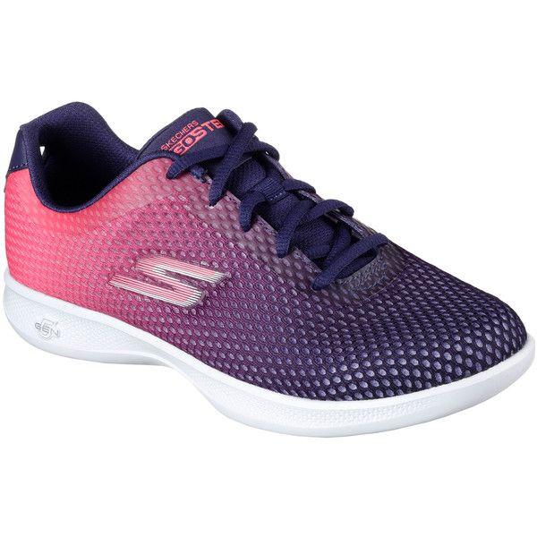 Skechers Women's Skechers Go Step Lite - Interstellar Navy - Skechers... (€61) ❤ liked on Polyvore featuring shoes, sneakers, navy, skechers footwear, lacing sneakers, laced sneakers, skechers sneakers and mesh sneakers