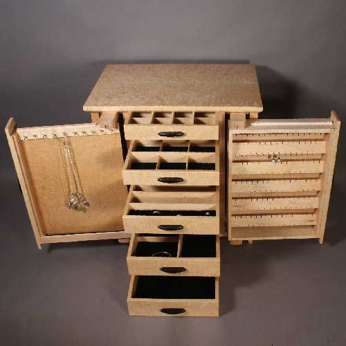 Bird's Eye Maple Jewelry Cabinet