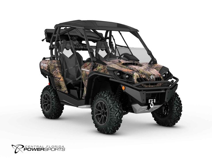 New 2016 Can-Am Commander Mossy Oak Hunting Edition 1000 ATVs For Sale in Florida. 2016 Can-Am Commander Mossy Oak Hunting Edition 1000, The 2016 Can-Am Commander Mossy Oak Hunting Edition 1000 features the all-new Mossy Oak Break-Up Country pattern combined with factory-installed hunting accessories that make it the ultimate hunting package. 85-hp Rotax 1000 V-Twin Engine Tri-Mode Dynamic Power Steering Xtreme Front Bumper, Bed Rails, Mudguards and Aluminum Skid Plate WARN winch Double…